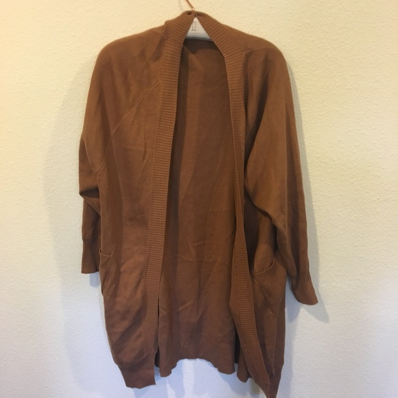 TCEC Sweaters - TCEC brown cardigan sweater